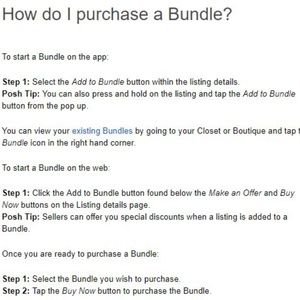 Instructions for how to create a Bundle